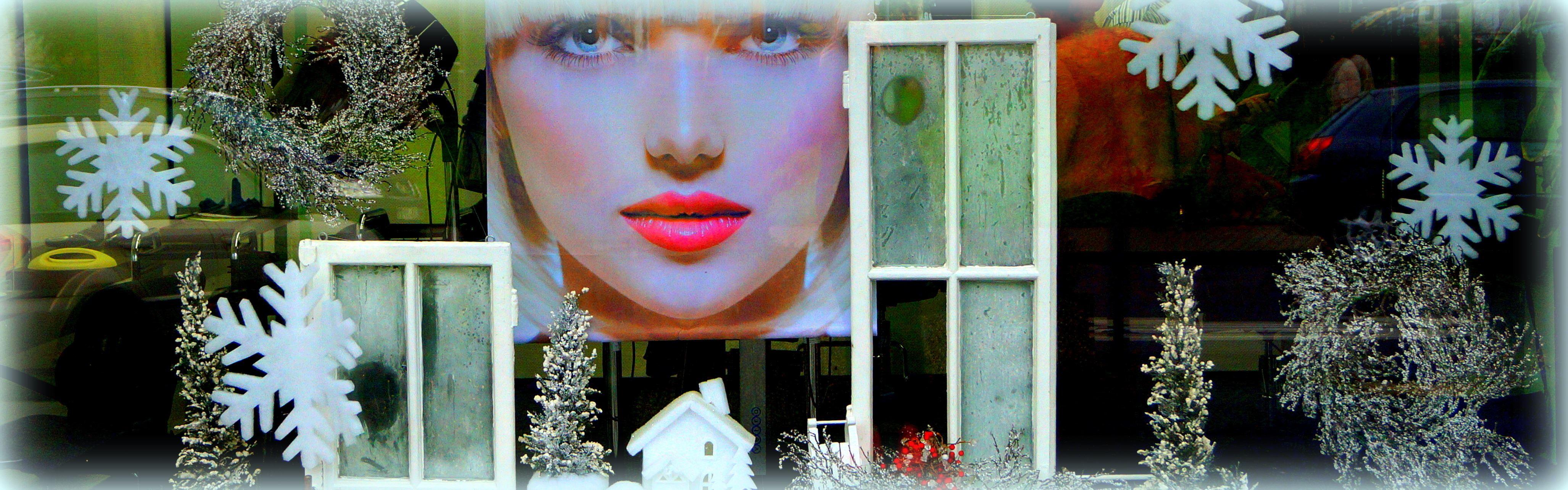 Schaufensterdekoration - Salon